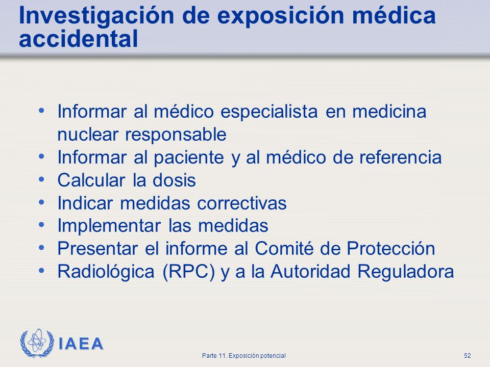 Investigación de exposición médica accidental
