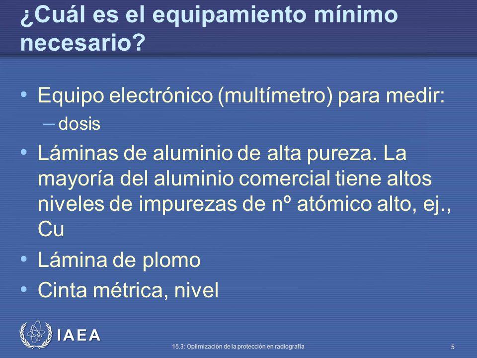 ¿Cuál es el equipamiento mínimo necesario