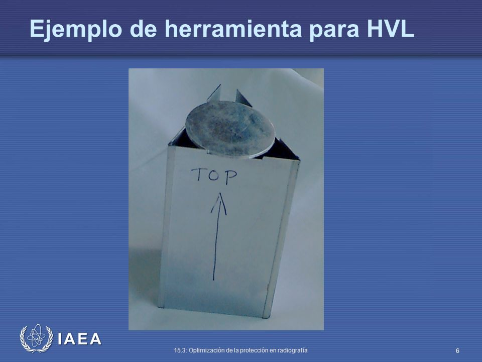 Ejemplo de herramienta para HVL