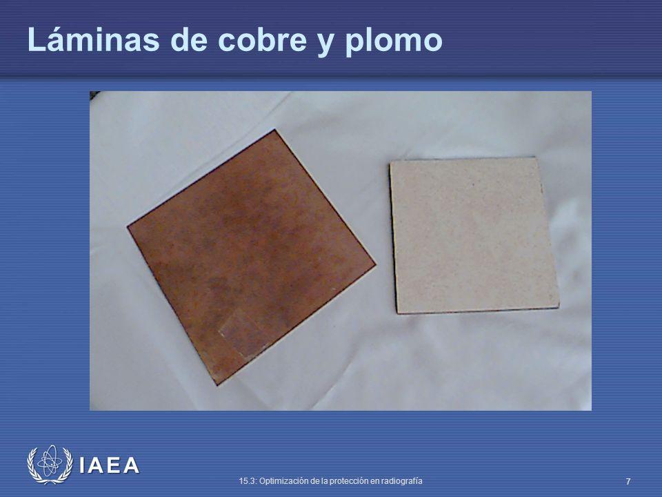 Láminas de cobre y plomo