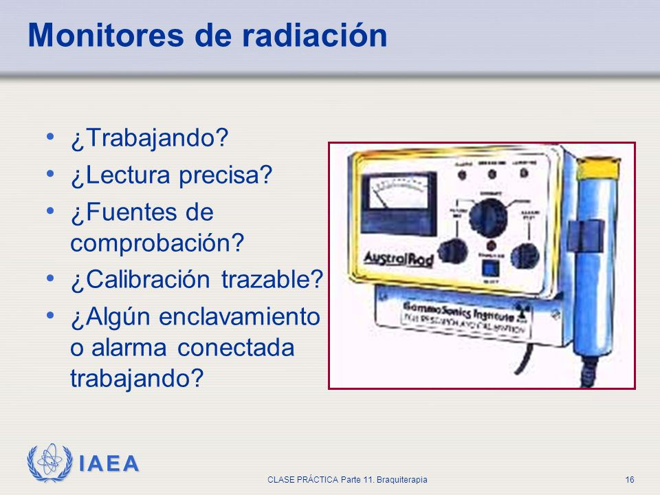 Monitores de radiación
