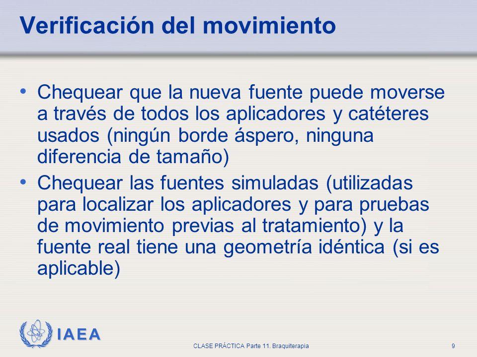 Verificación del movimiento