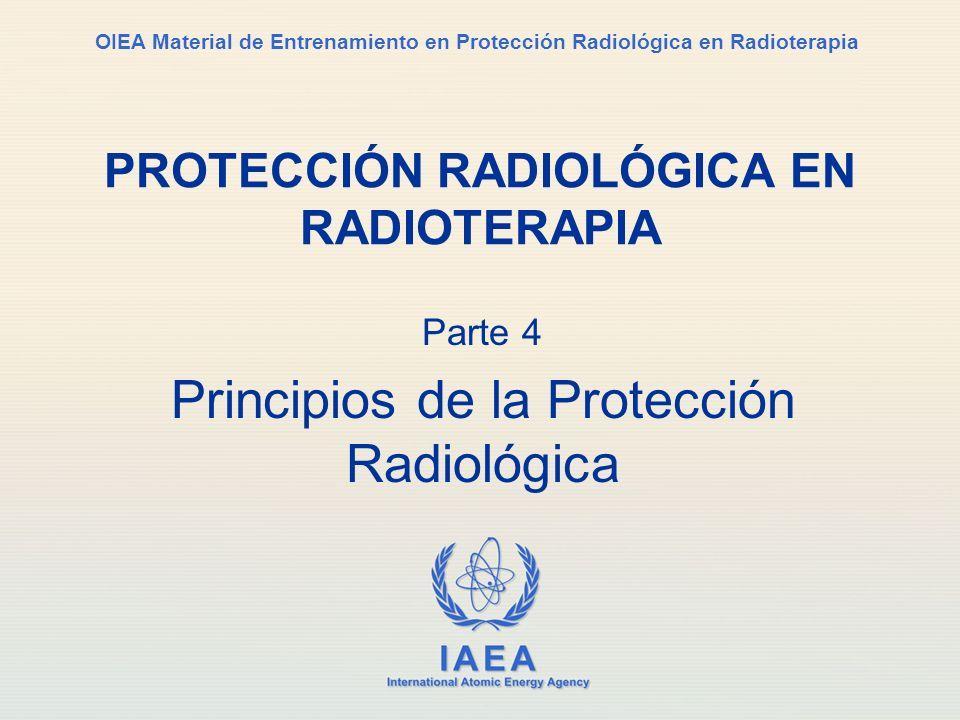 Part No 4, Lesson No 1 Parte 4 Principios de la Protección Radiológica