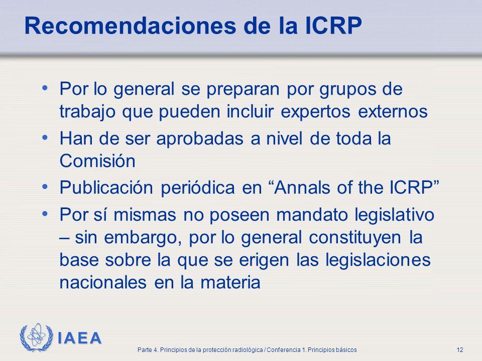 Recomendaciones de la ICRP