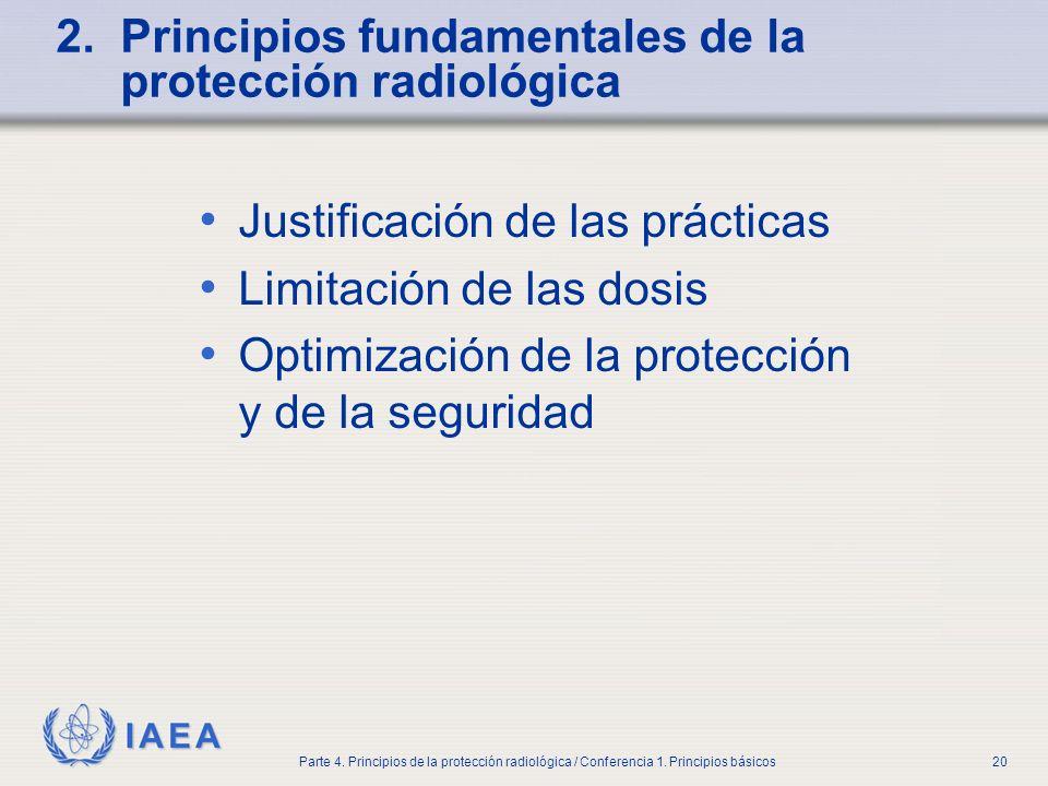 2. Principios fundamentales de la protección radiológica