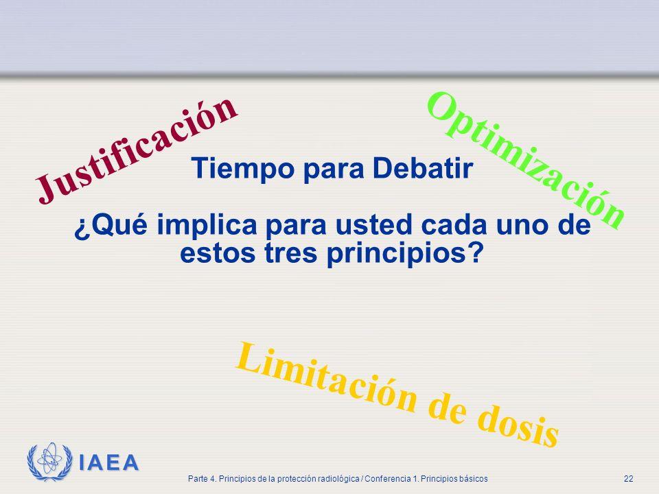 Justificación Optimización Limitación de dosis