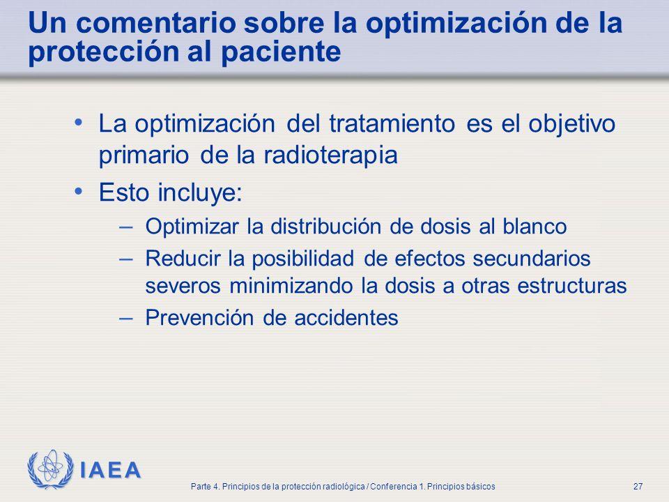 Un comentario sobre la optimización de la protección al paciente