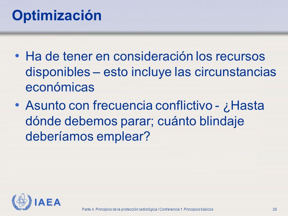 Part No 4, Lesson No 1Radiation Safety. Optimización.