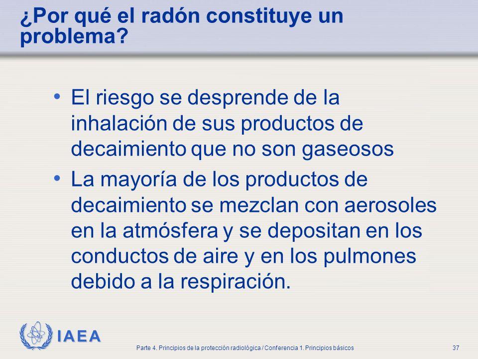 ¿Por qué el radón constituye un problema
