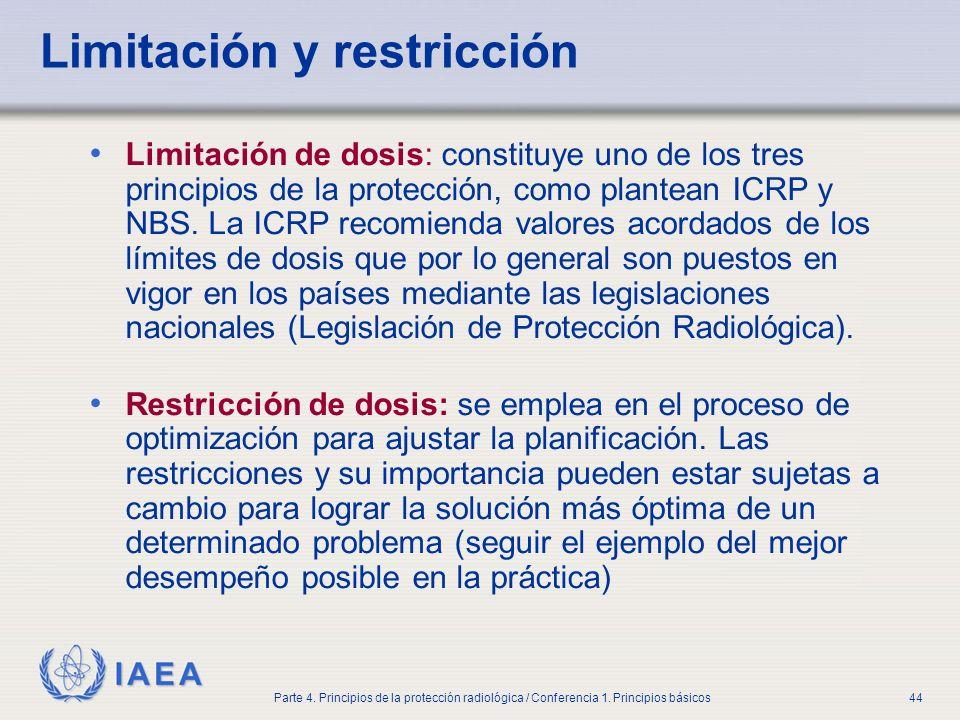 Limitación y restricción