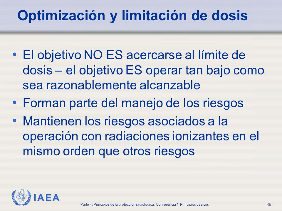 Optimización y limitación de dosis
