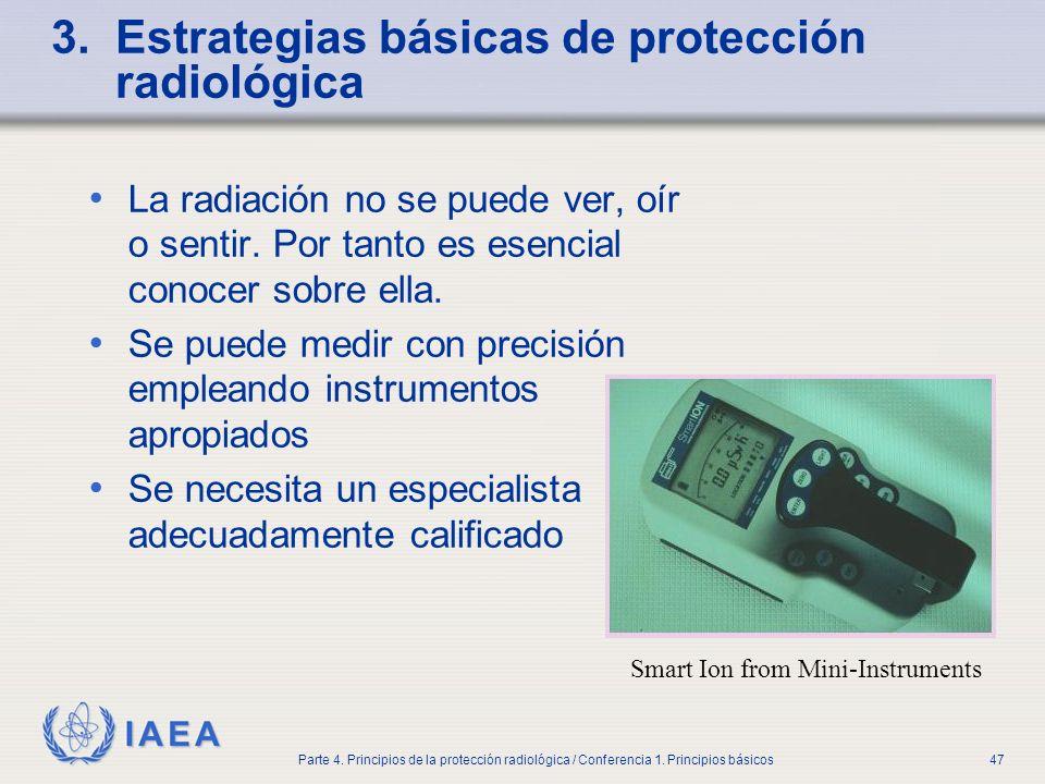 3. Estrategias básicas de protección radiológica