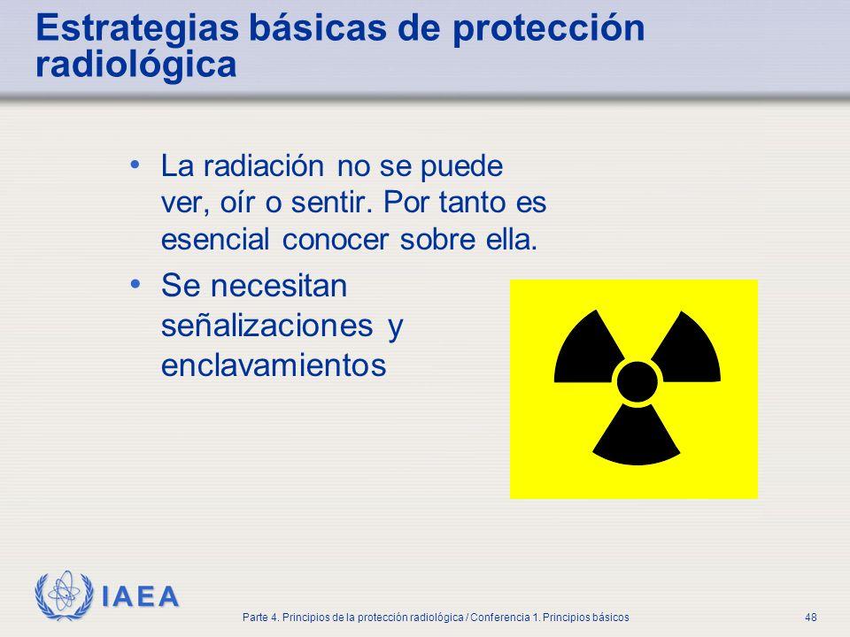 Estrategias básicas de protección radiológica
