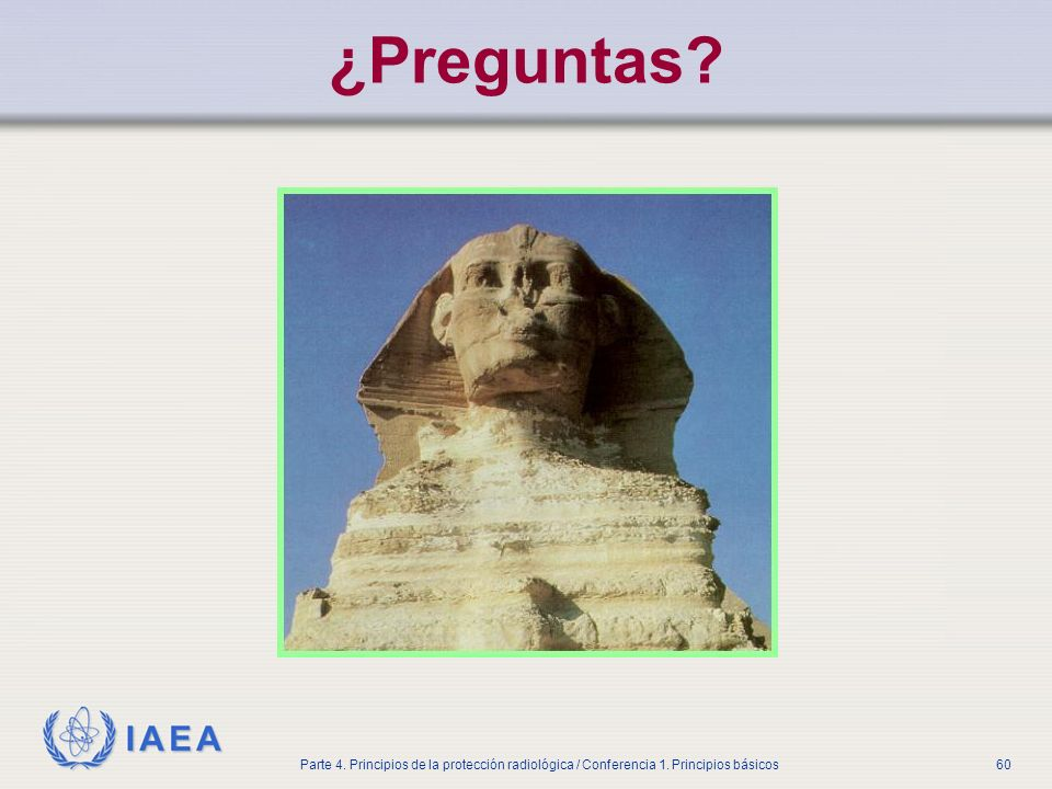 ¿Preguntas Part No 4, Lesson No 1 Radiation Safety