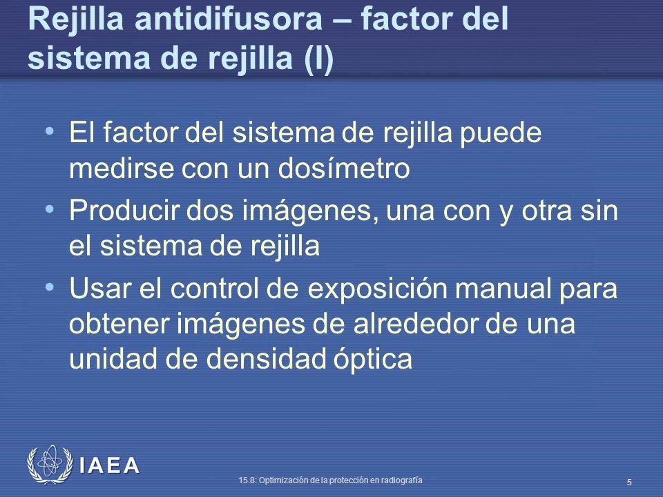 Rejilla antidifusora – factor del sistema de rejilla (I)