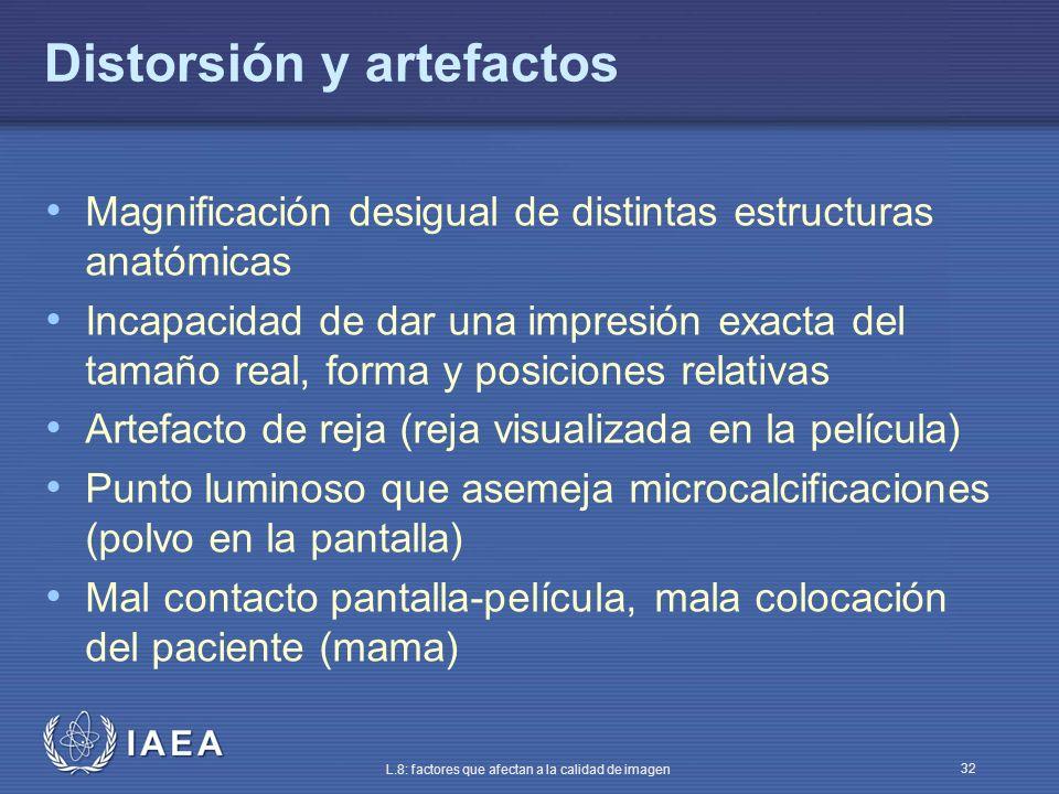 Distorsión y artefactos
