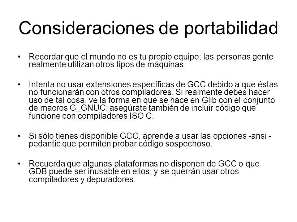 Consideraciones de portabilidad