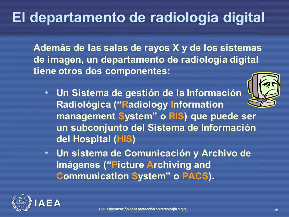 El departamento de radiología digital