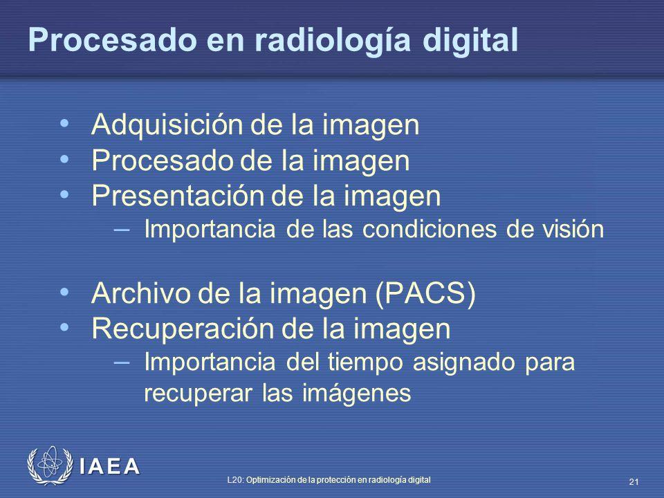 Procesado en radiología digital