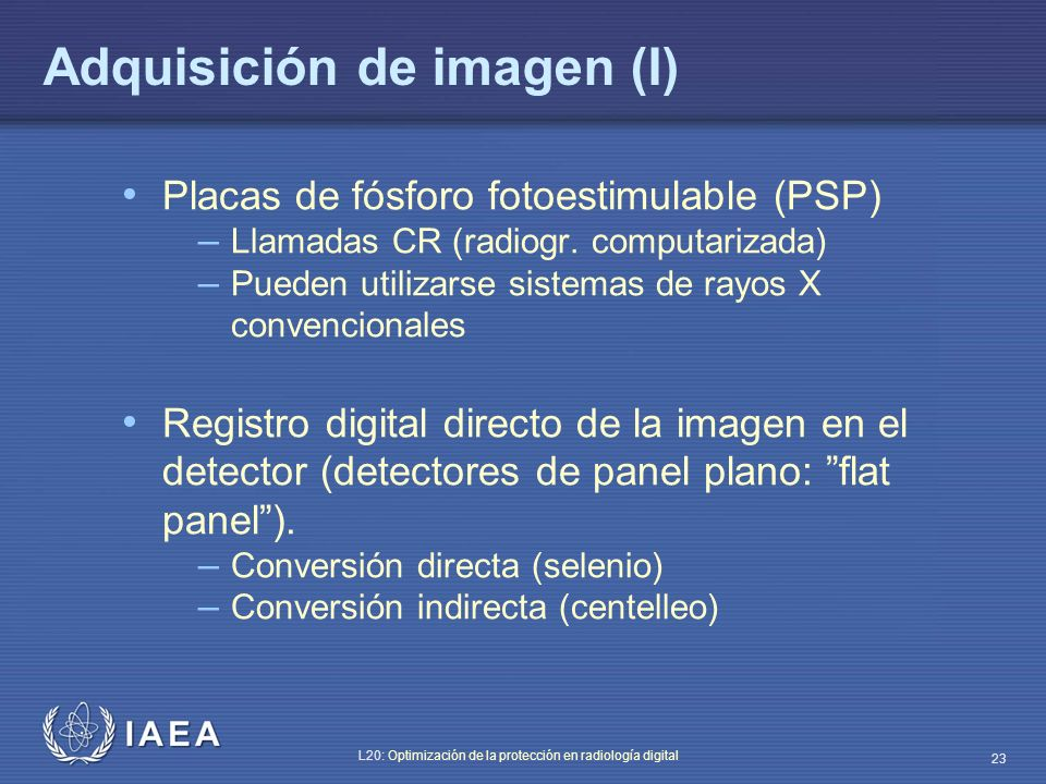 Adquisición de imagen (I)