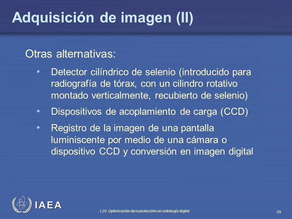 Adquisición de imagen (II)
