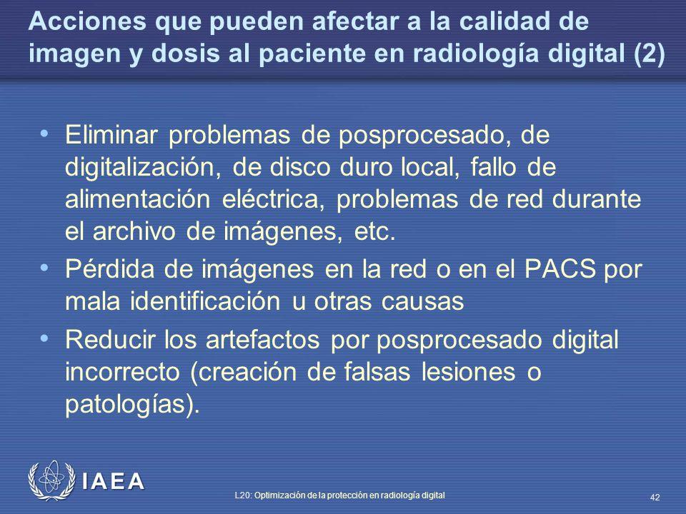 Acciones que pueden afectar a la calidad de imagen y dosis al paciente en radiología digital (2)