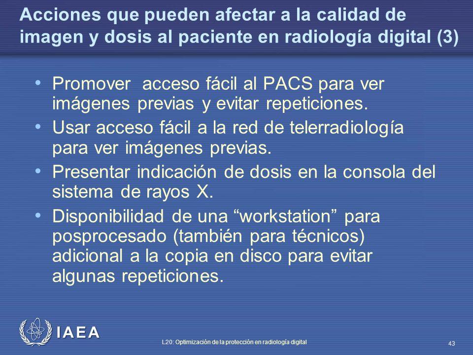 Acciones que pueden afectar a la calidad de imagen y dosis al paciente en radiología digital (3)
