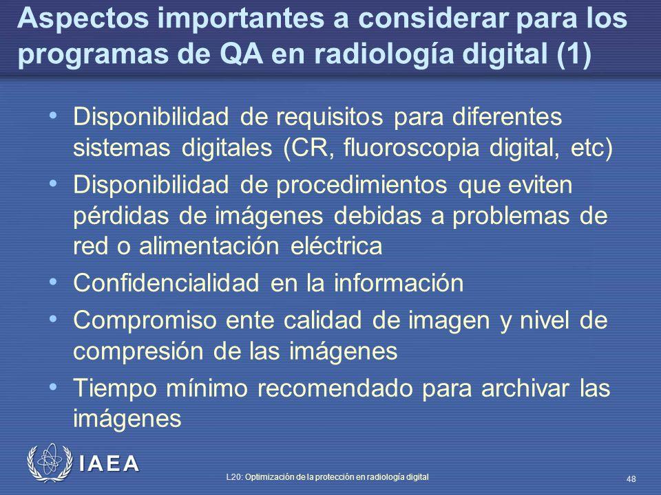 Aspectos importantes a considerar para los programas de QA en radiología digital (1)