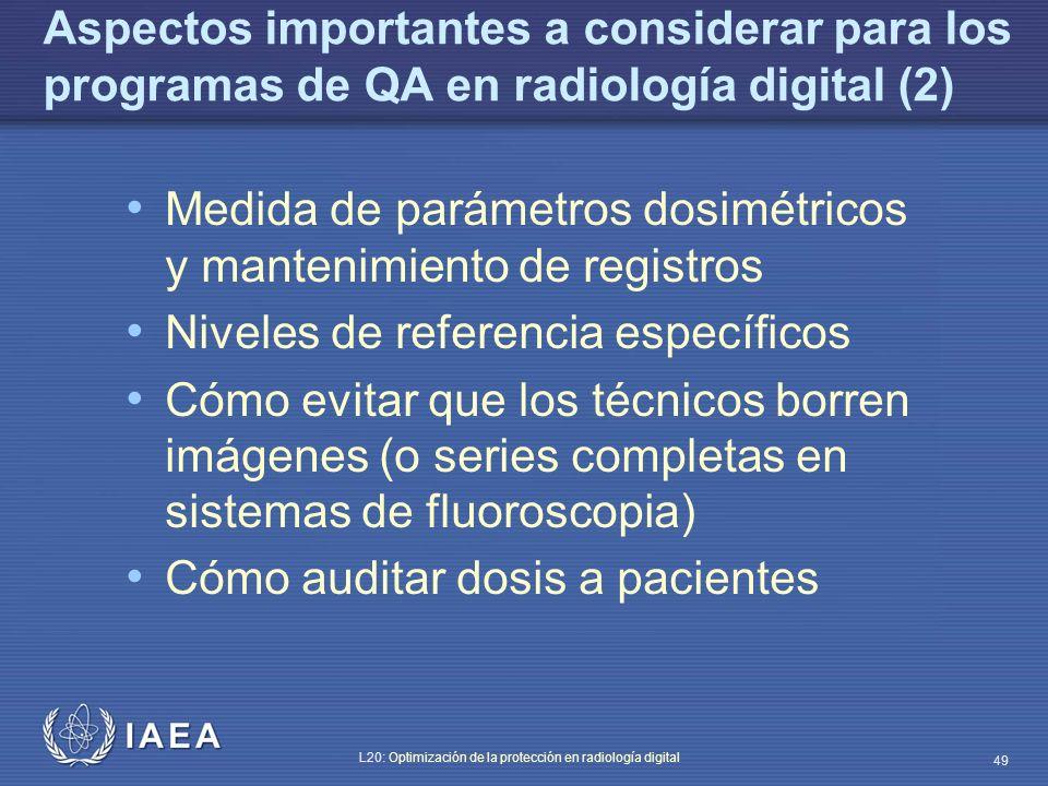 Aspectos importantes a considerar para los programas de QA en radiología digital (2)