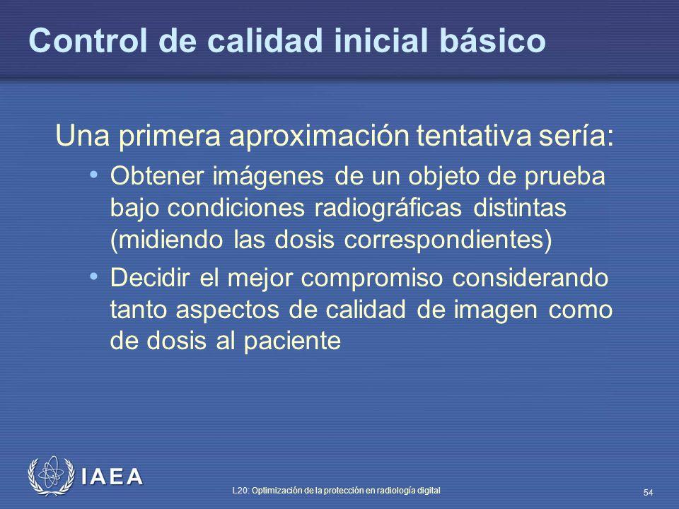 Control de calidad inicial básico