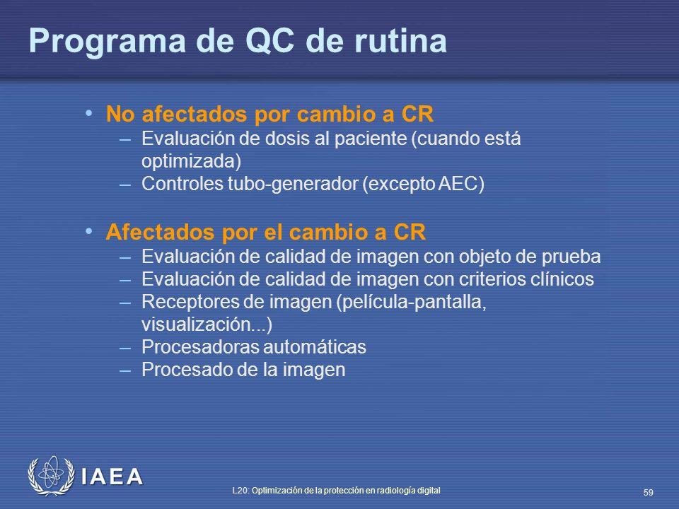 Programa de QC de rutina
