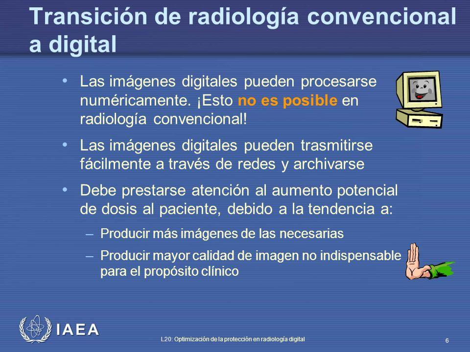 Transición de radiología convencional a digital