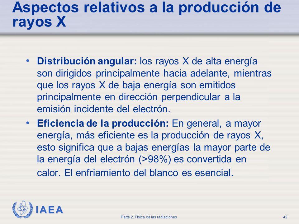 Aspectos relativos a la producción de rayos X