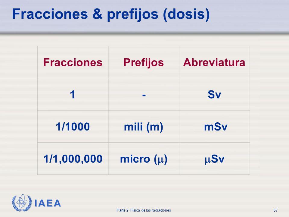 Fracciones & prefijos (dosis)