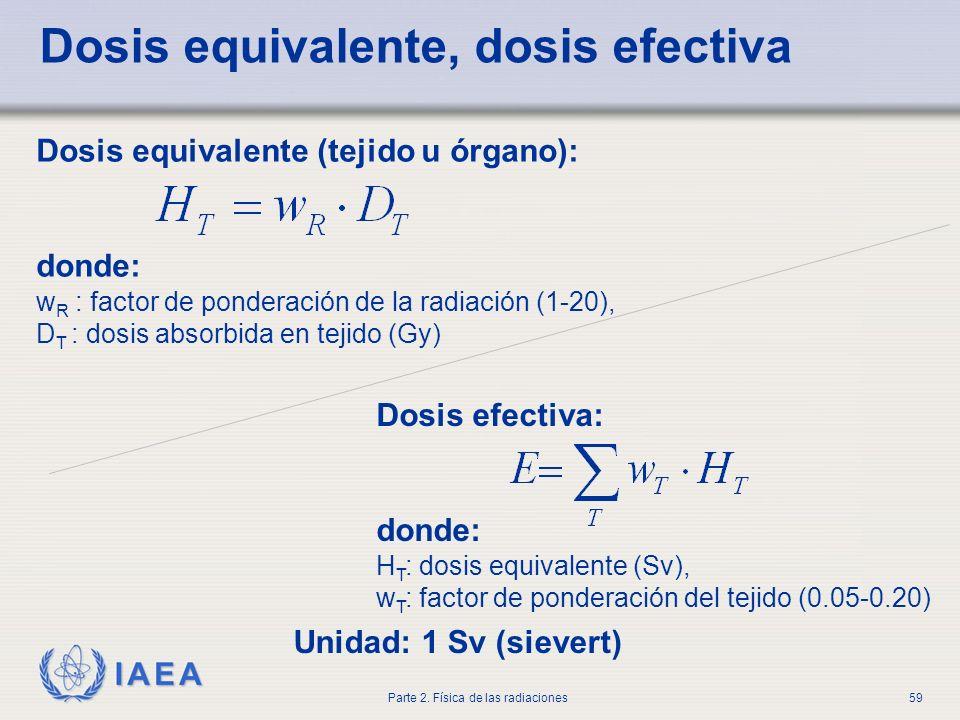 Dosis equivalente, dosis efectiva
