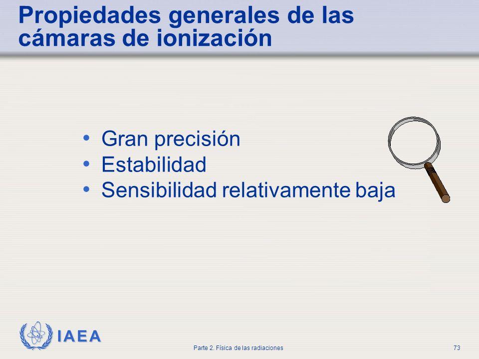 Propiedades generales de las cámaras de ionización