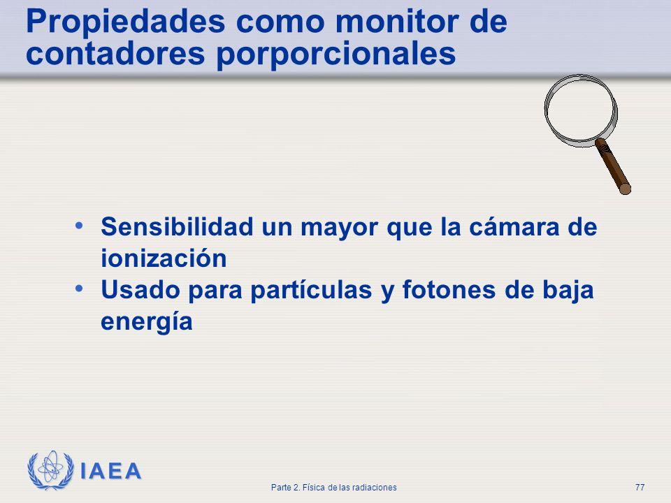 Propiedades como monitor de contadores porporcionales