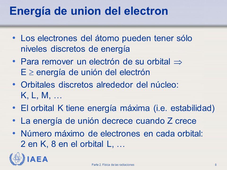 Energía de union del electron
