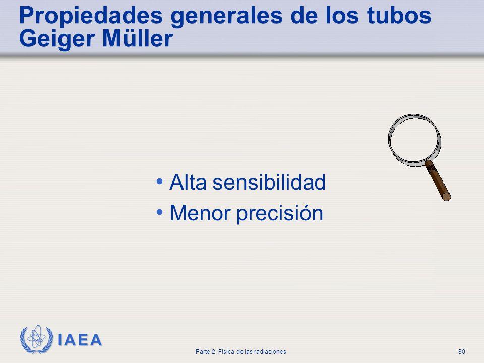 Propiedades generales de los tubos Geiger Müller