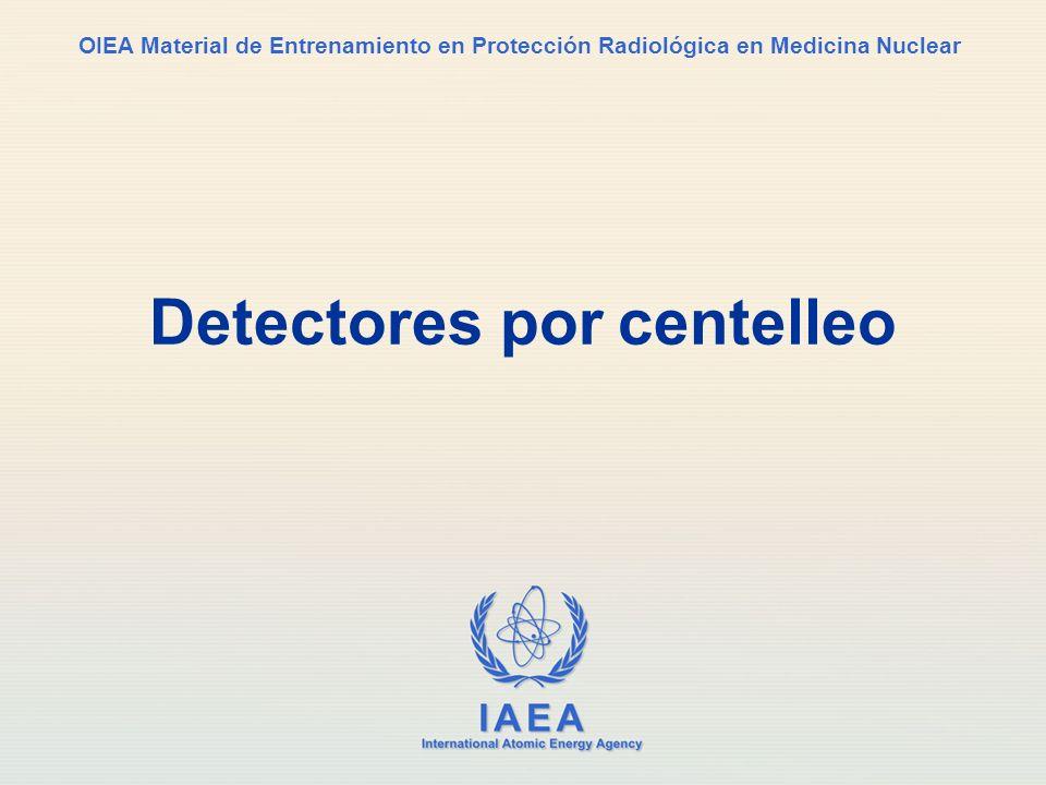 Detectores por centelleo