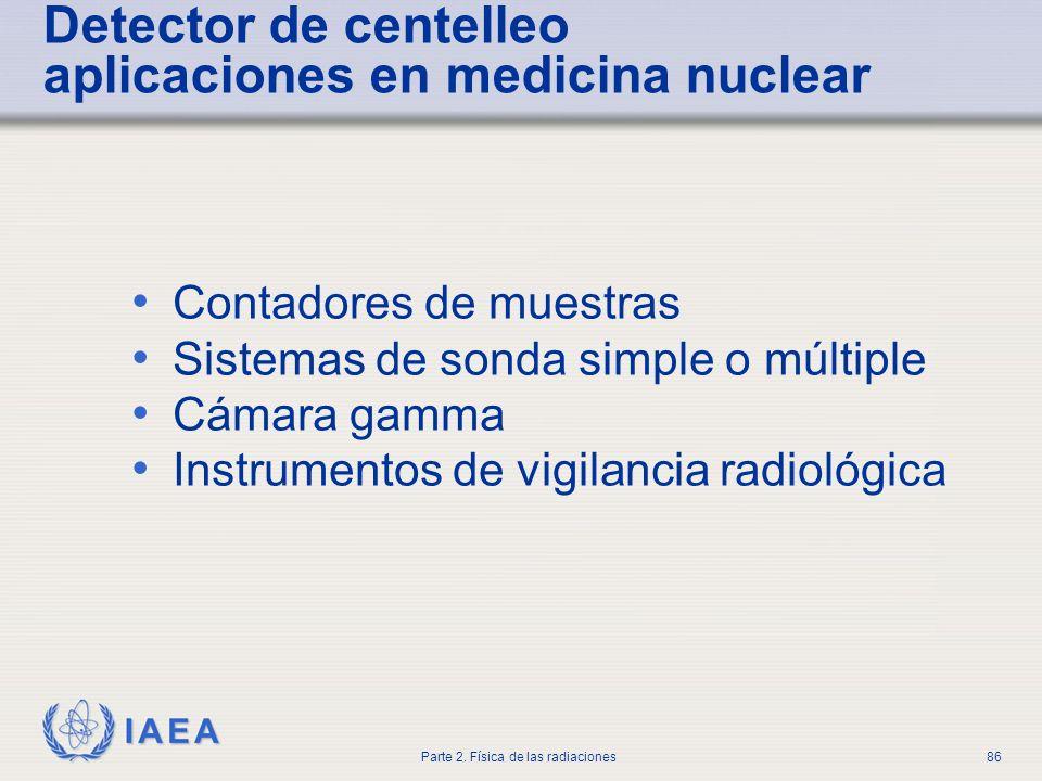 Detector de centelleo aplicaciones en medicina nuclear