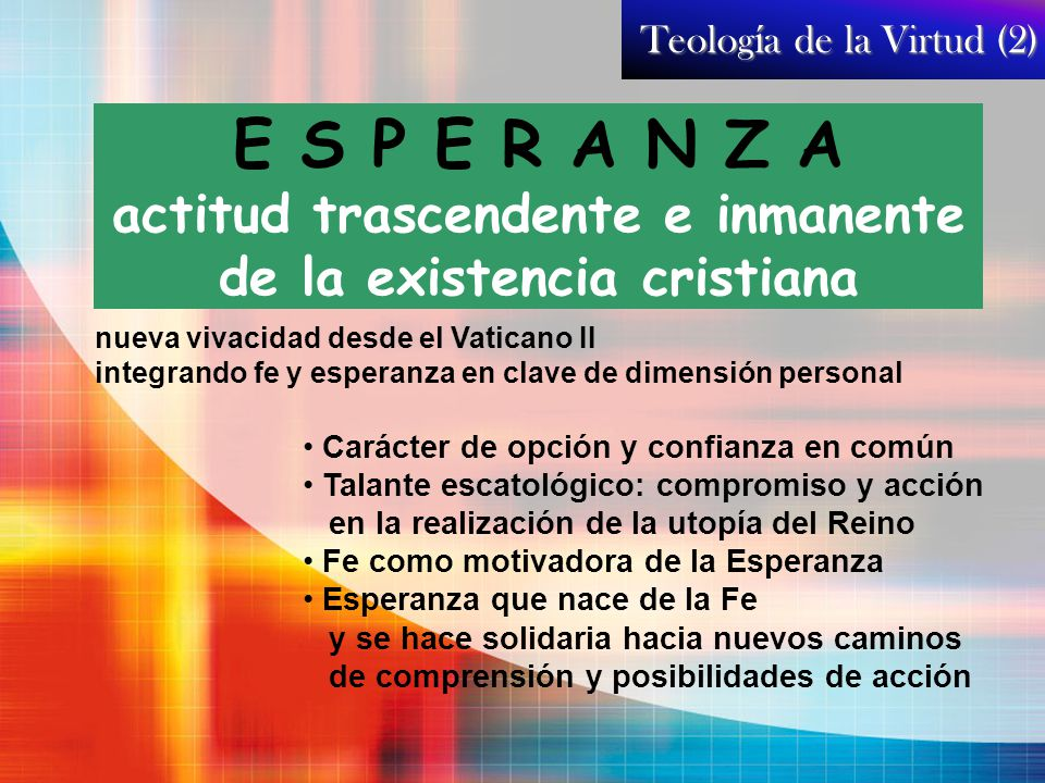 Teología de la Virtud (2)
