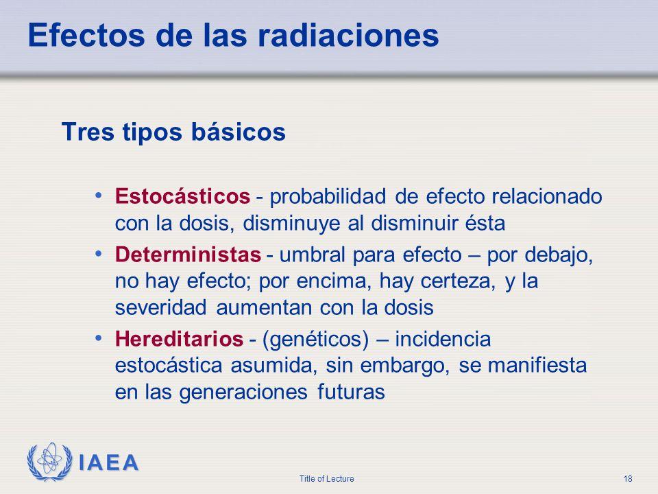 Efectos de las radiaciones