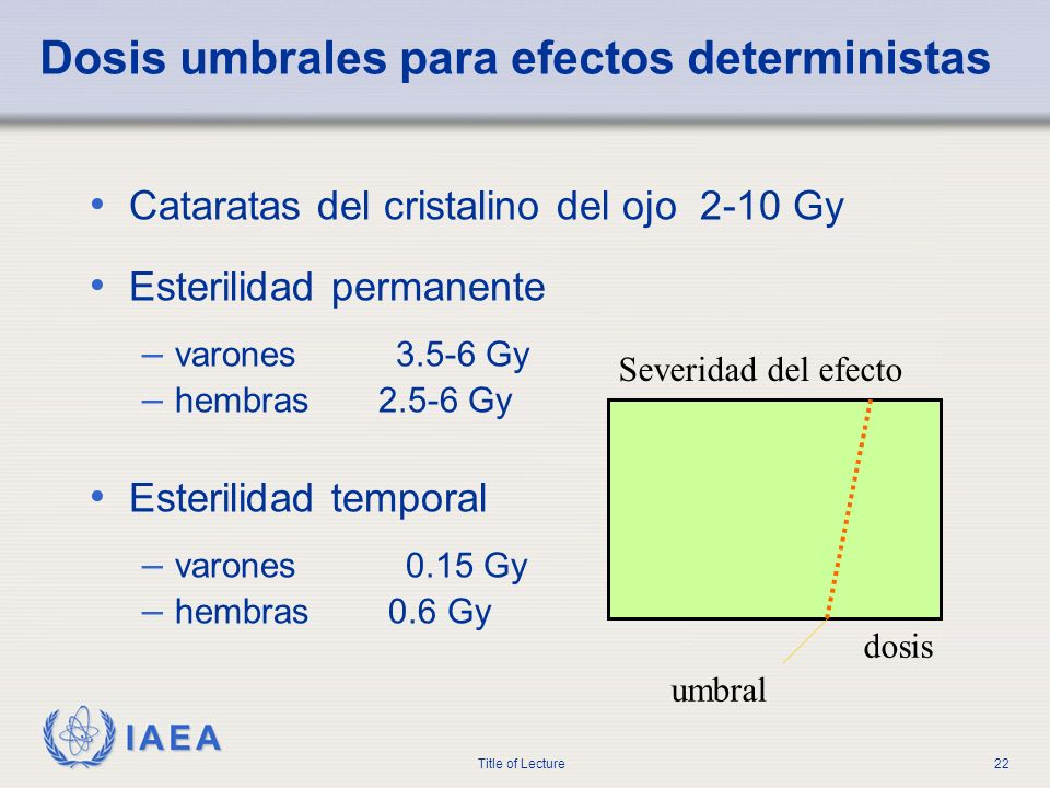 Dosis umbrales para efectos deterministas