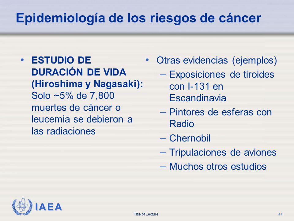 Epidemiología de los riesgos de cáncer