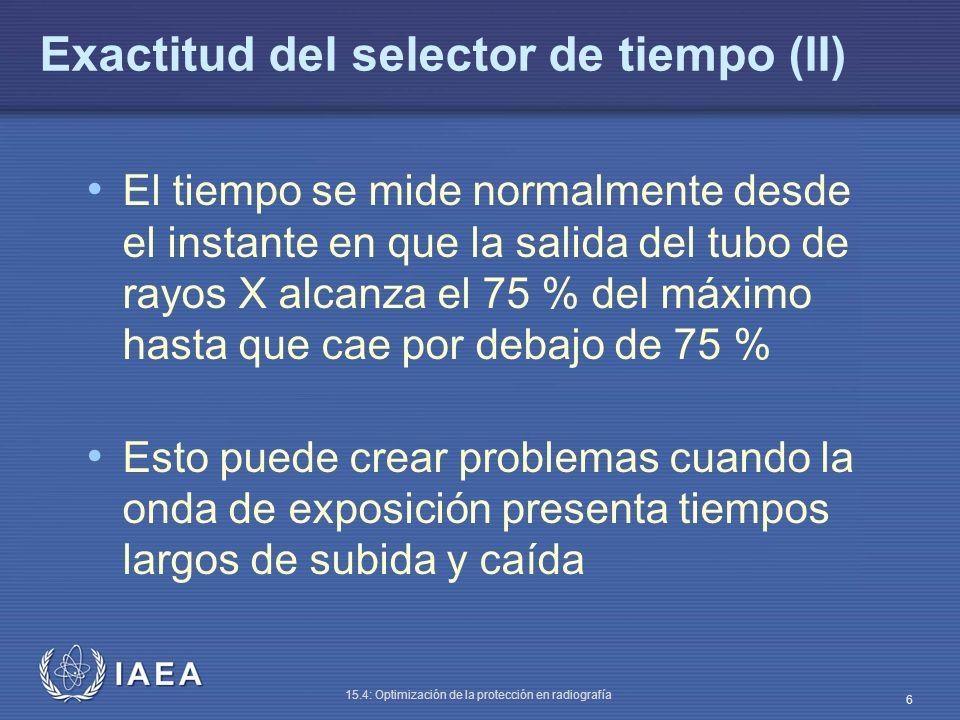 Exactitud del selector de tiempo (II)