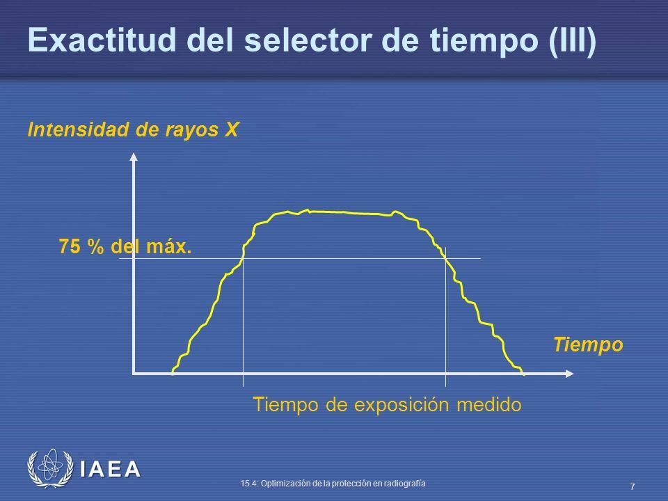 Exactitud del selector de tiempo (III)