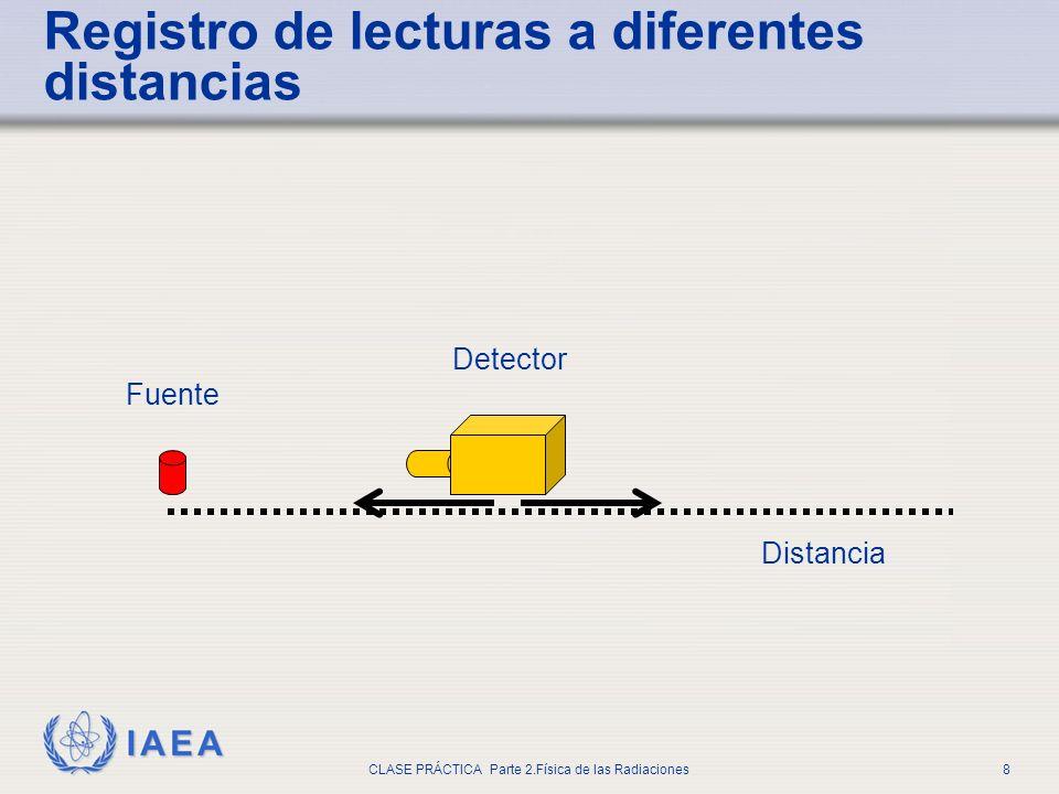 Registro de lecturas a diferentes distancias