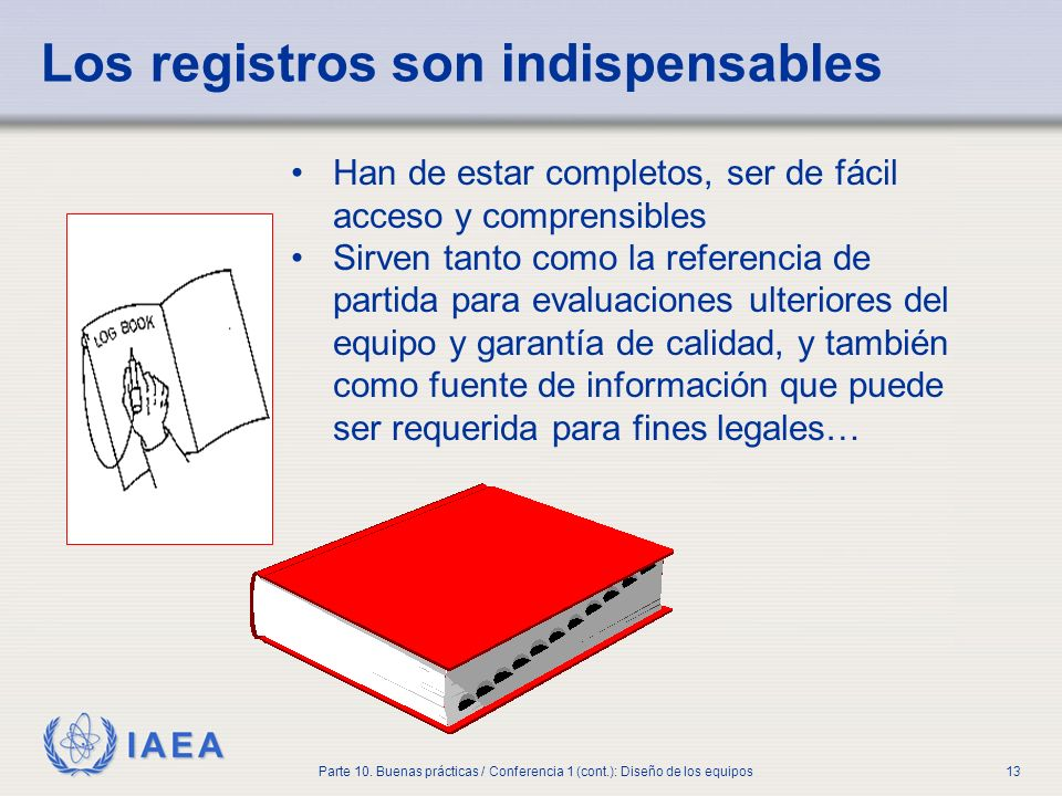Los registros son indispensables