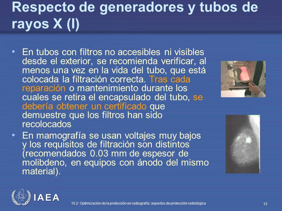 Respecto de generadores y tubos de rayos X (I)